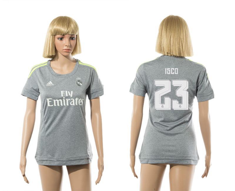 2015-16 Real Madrid 23 ISCO Away Women Jersey
