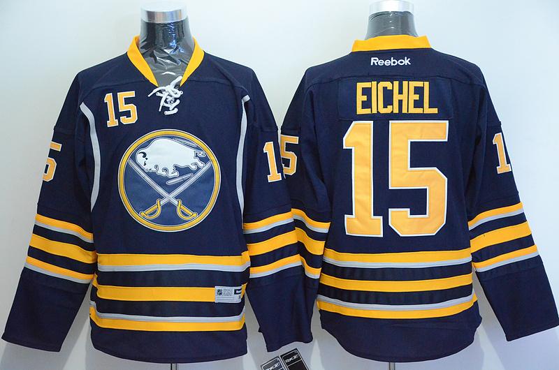 Sabres 15 Eichel Blue Reebok Jersey