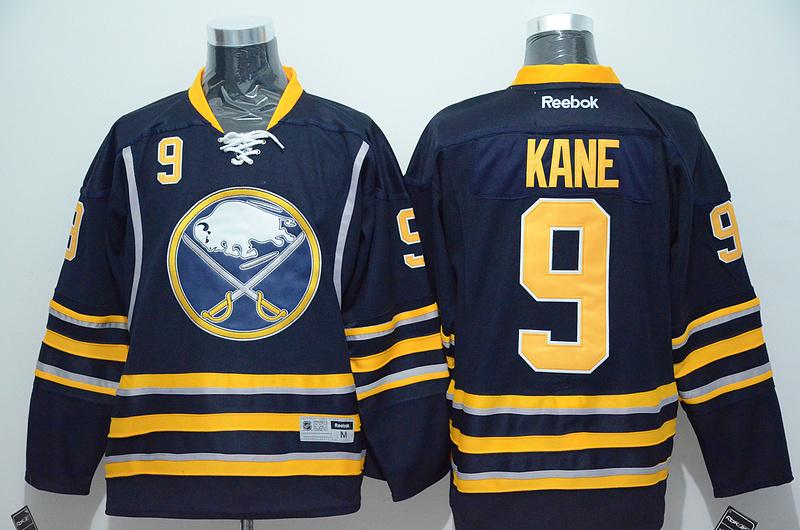 Sabres 9 Kane Blue Reebok Jersey