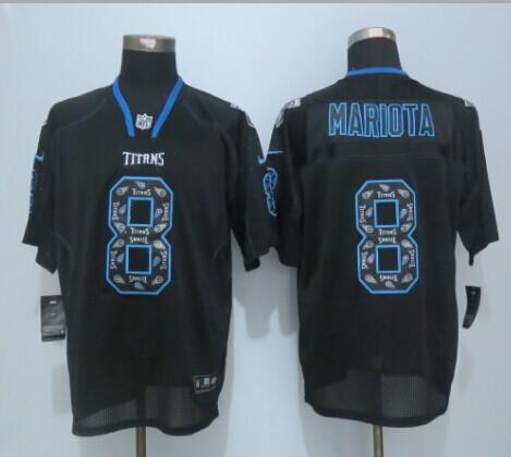 Nike Titans 8 Mariota Lights Out Black Elite New Jersey