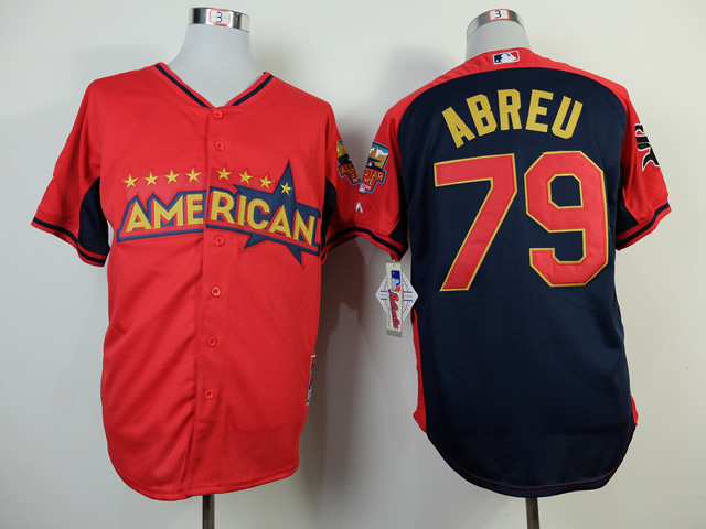 American League White Sox 79 Abreu Red 2014 All Star Jerseys