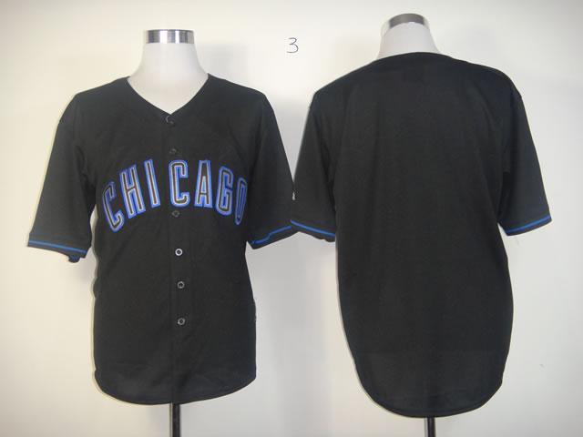 Cubs Blank Black Fashion Jerseys