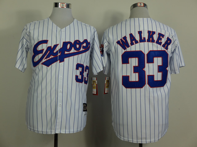 Expos 33 Walker White 1982 Throwback Jerseys