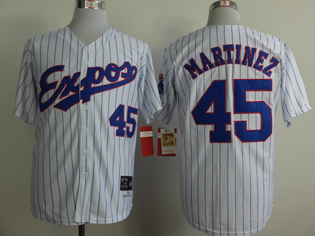 Expos 45 Martinez White 1982 Throwback Jerseys