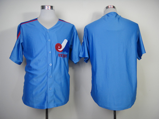 Expos Blank Blue Jerseys