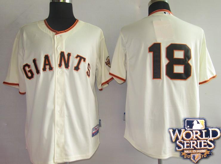 Giants 18 Matt cream world series jerseys