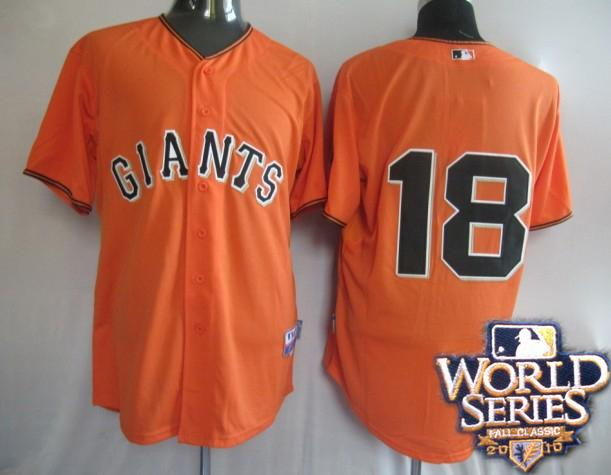 Giants 18 Matt orange world series jerseys