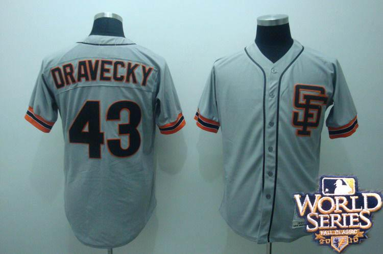 Giants 43 Dravecky gray world series jerseys