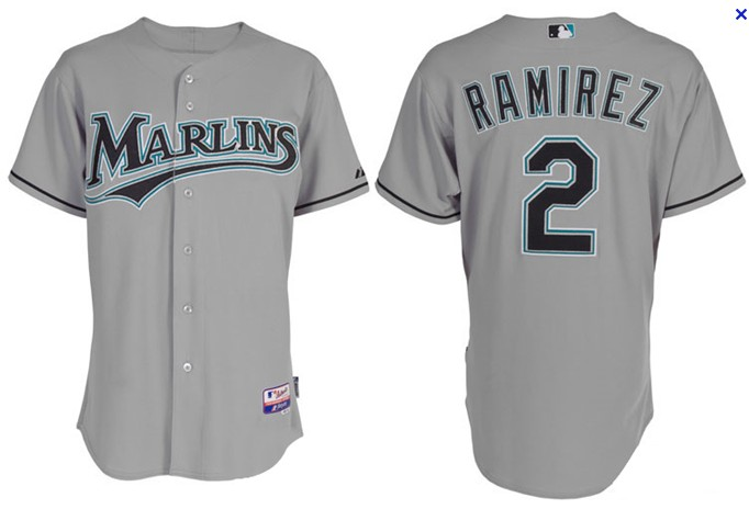 Marlins 2 Hanley Ramirez Grey Jerseys