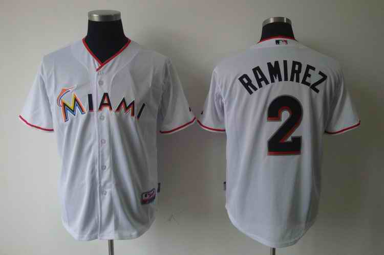 Marlins 2 RAMIREZ white jerseys