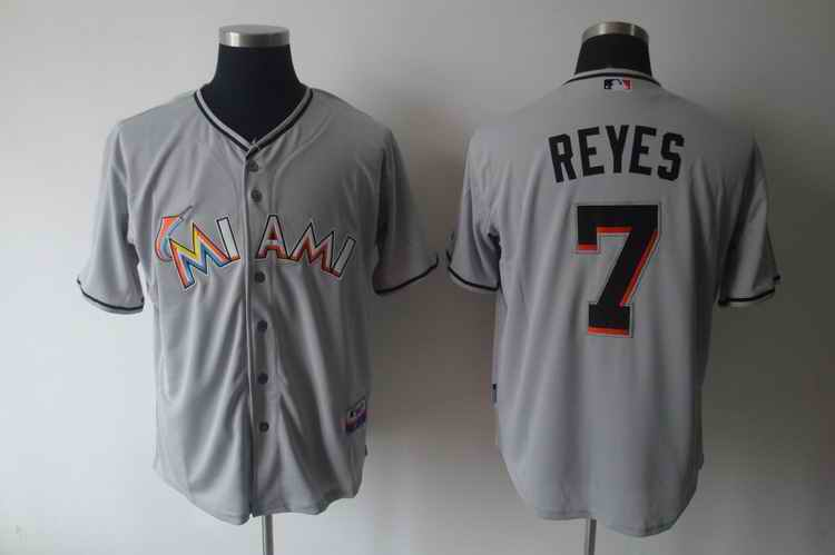 Marlins 7 REYES Grey jerseys