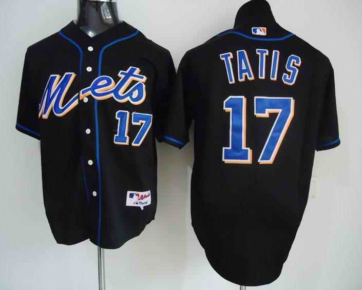 Mets 17 Taitis black Jerseys