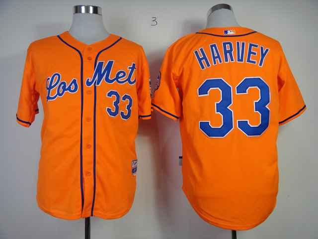 Mets 33 Harvey Orange Cool Base Jerseys