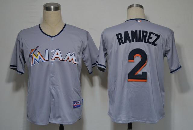 Miami Marlins 2 Ramirez Grey 2012 Jerseys