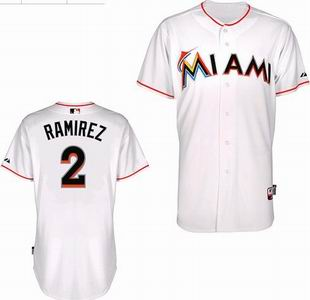 Miami Marlins 2 Ramirez white Jerseys