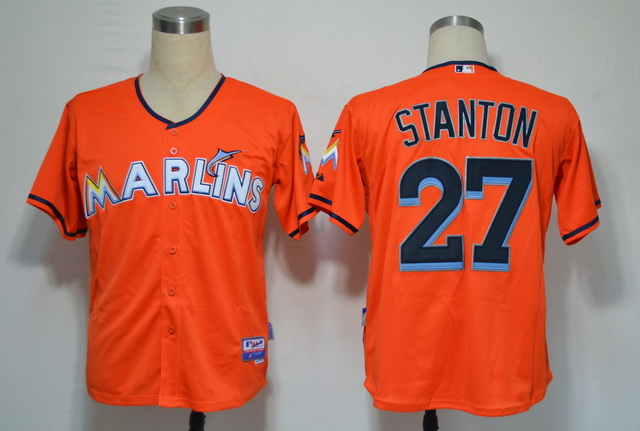 Miami Marlins 27 Stanton Orange 2012 Jerseys