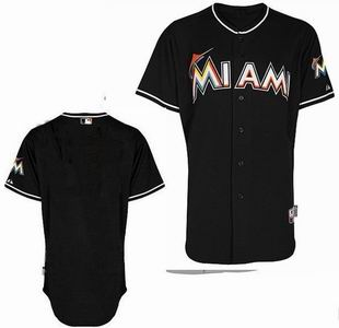 Miami Marlins blank black Cool Base Jerseys