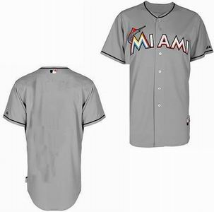 Miami Marlins blank grey Cool Base Jerseys