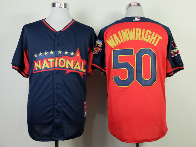 National League Cardinals 50 Wainwright Blue 2014 All Star Jerseys