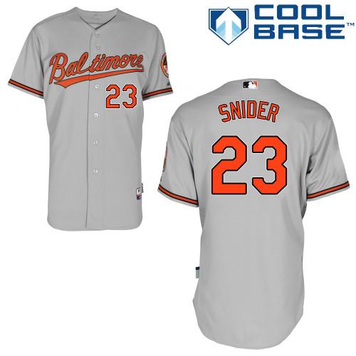 Orioles 23 Snider Grey Cool Base Jerseys