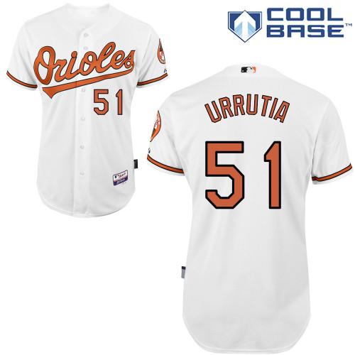 Orioles 51 Urrutia White Cool Base Jerseys