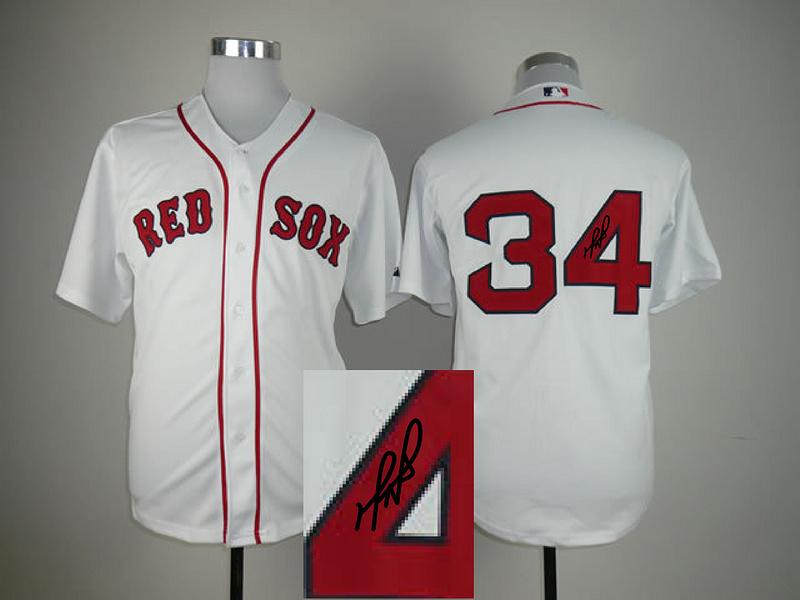 Red Sox 34 Ortiz White Signature Edition Jerseys