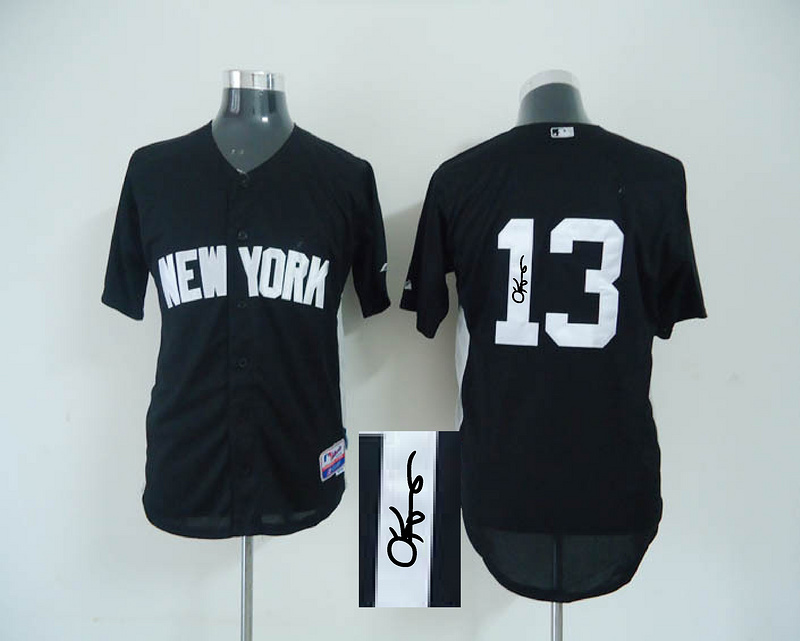 Yankees 13 Rodriguez Black Signature Edition Jerseys