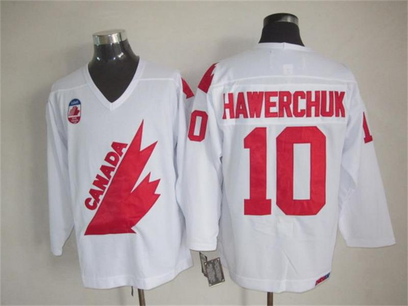 Canada 10 Hawerchuk White Throwback Jersey