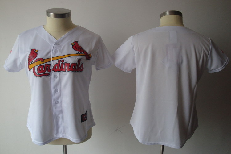 Cardinals Blank White Women Jersey