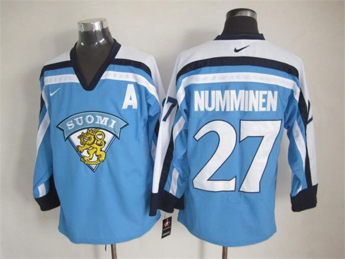 Finland 27 Numminen Blue Nike Jersey