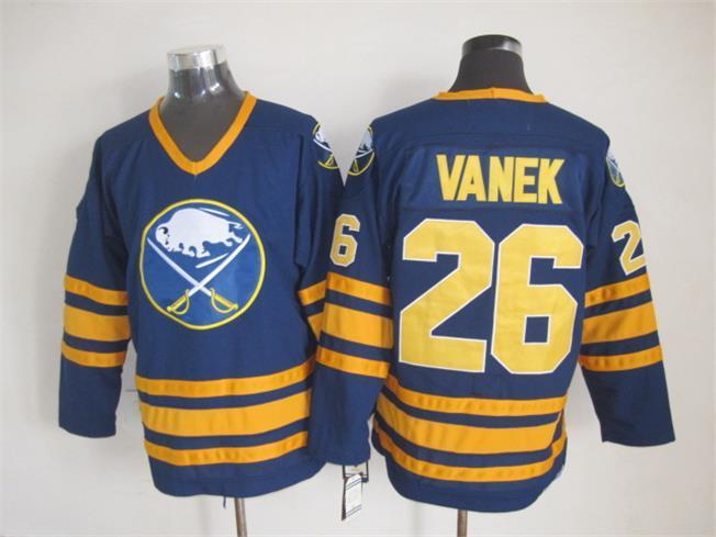 Sabres 26 Vanek Blue CCM Jersey
