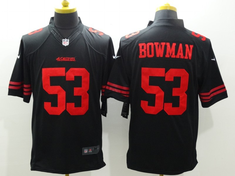 Nike 49ers 53 NaVorro Bowman Black Limited Jersey