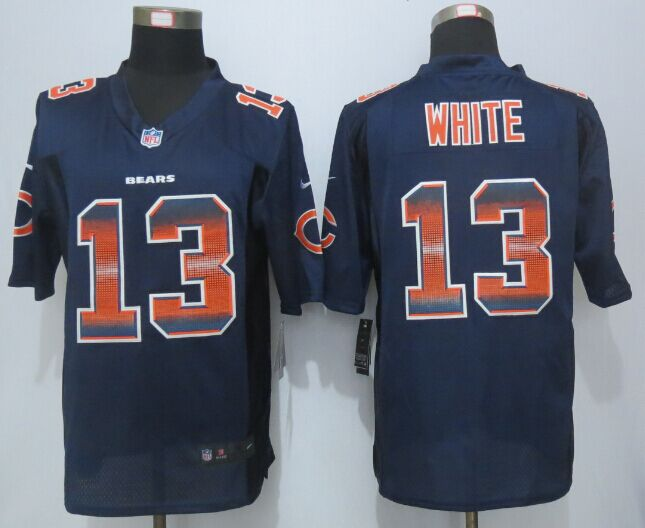 Nike Bears 13 Kevin White Navy Blue Pro Line Fashion Strobe Jersey