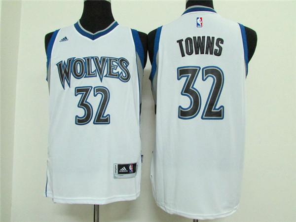 Timberwolves 32 Karl-Anthony Towns White New Swingman Jersey