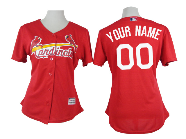 Cardinals Red Customized Women New Cool Base Jersey