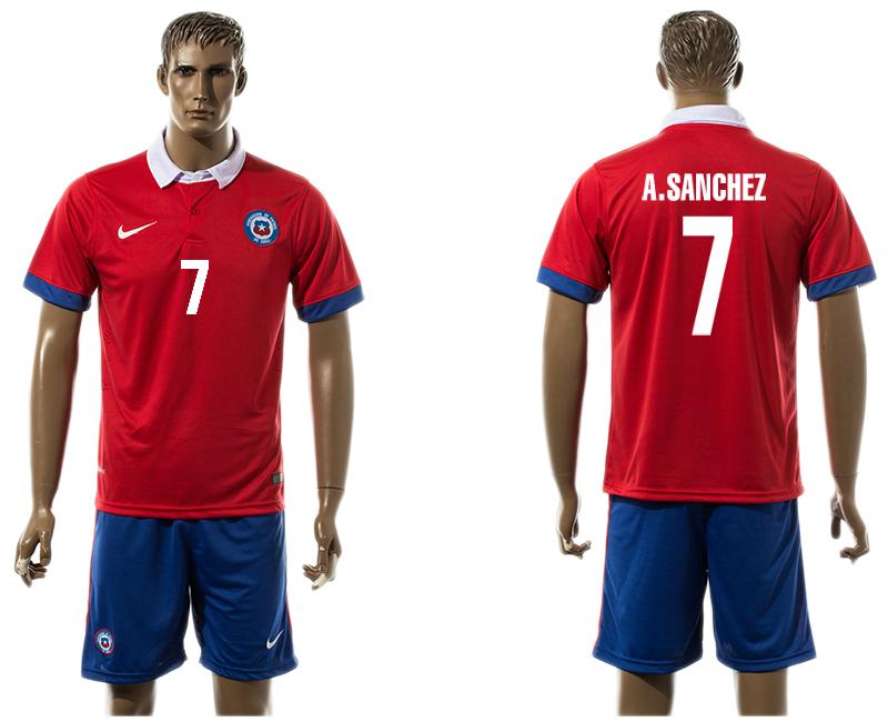 2015-16 Chile 7 A.SANCHEZ Home Jersey