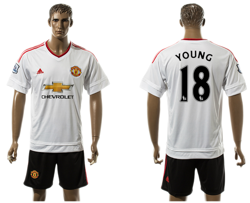 2015-16 Manchester United 18 YOUNG Away Jersey