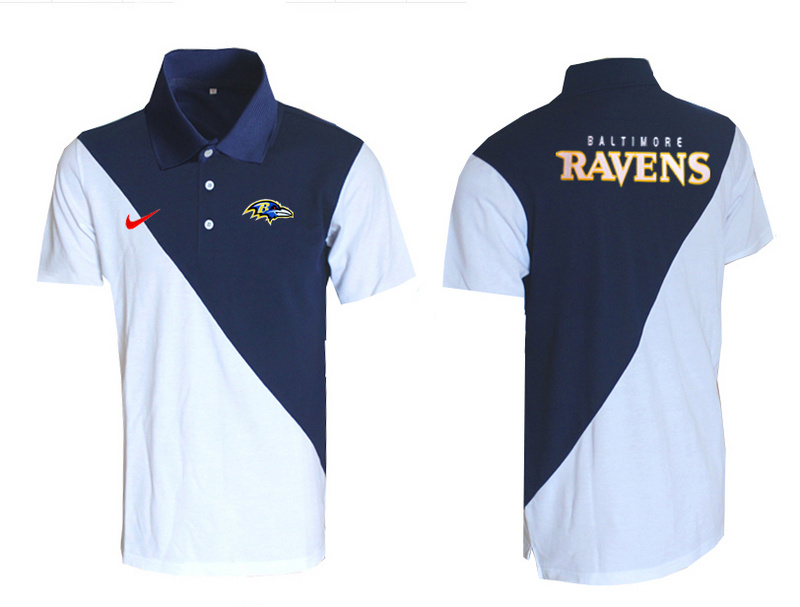 Nike Ravens Blue And White Polo Shirt