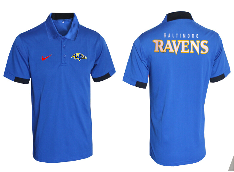 Nike Ravens Blue Polo Shirt