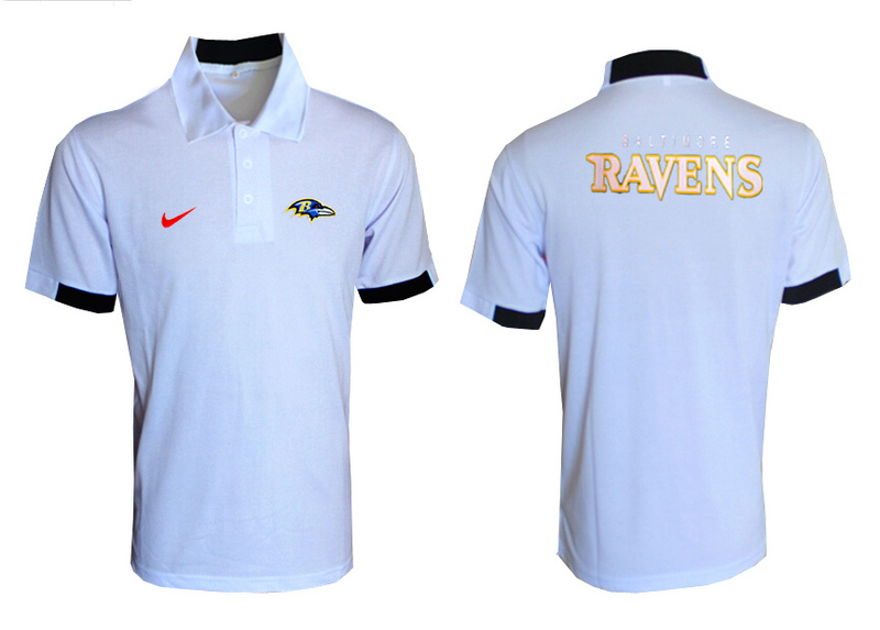Nike Ravens White Polo Shirt