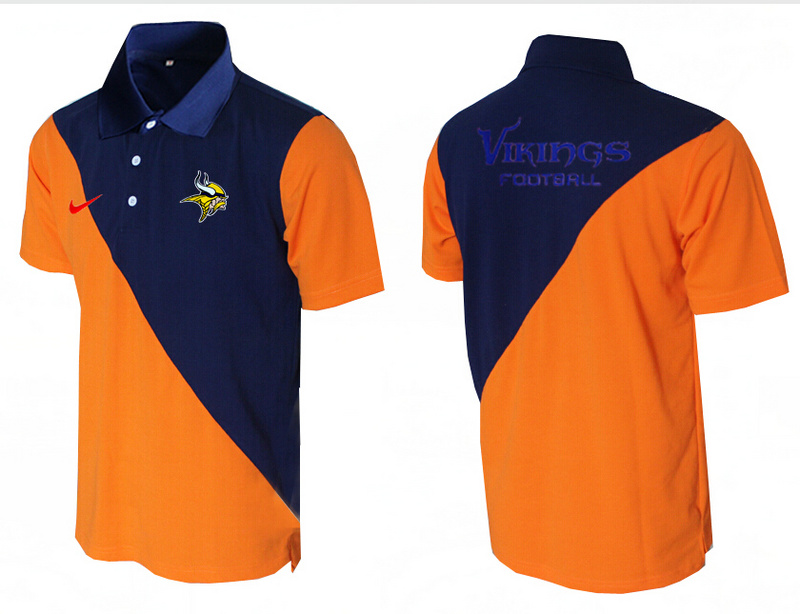 Nike Vikings Blue And Orange Polo Shirt