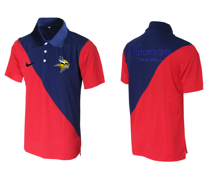 Nike Vikings Blue And Red Polo Shirt