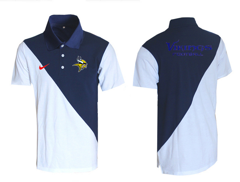 Nike Vikings Blue And White Polo Shirt