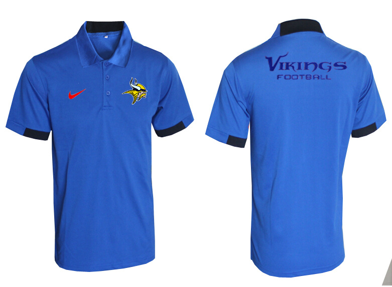 Nike Vikings Blue Polo Shirt