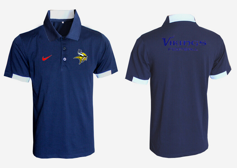 Nike Vikings D.Blue Polo Shirt