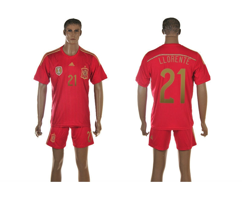 Spain 21 LLorente 2014 World Cup Home Soccer Jersey