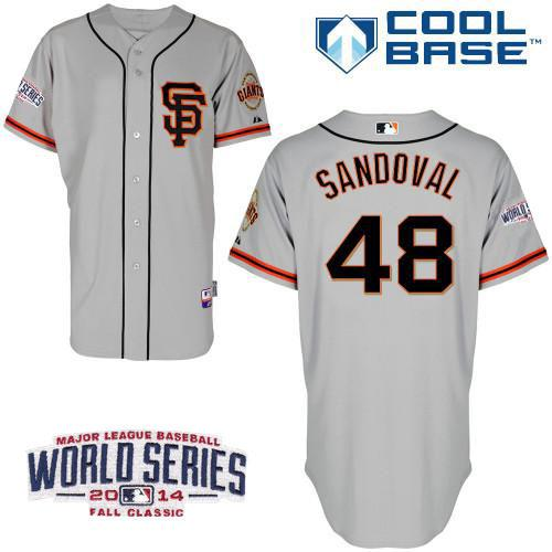 Giants 48 Sandoval 2014 World Series Cool Base Road 2 Jerseys