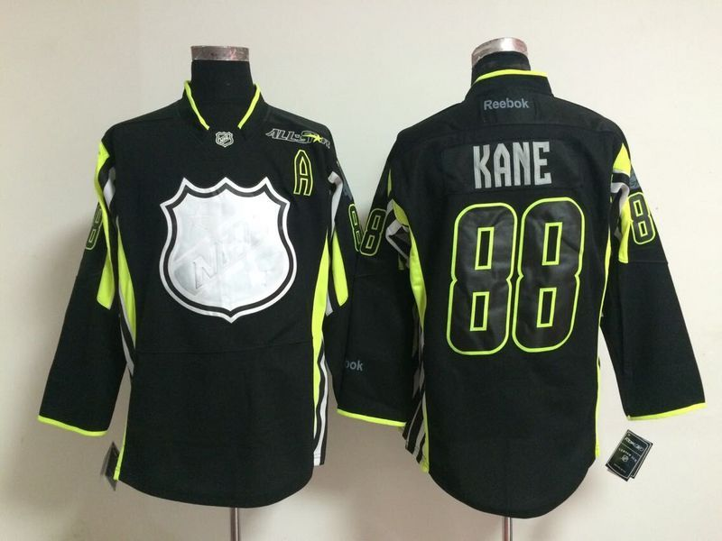 Blackhawks 88 Kane Black 2015 All Star Jerseys