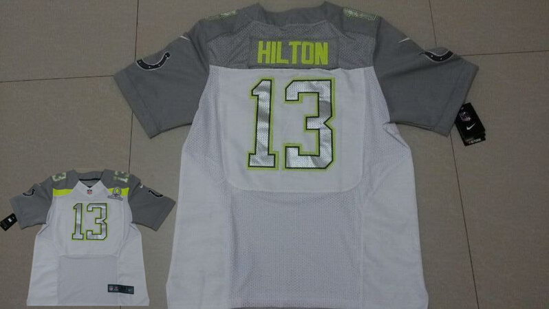 Nike Colts 13 Hilton White 2015 Pro Bowl Jerseys