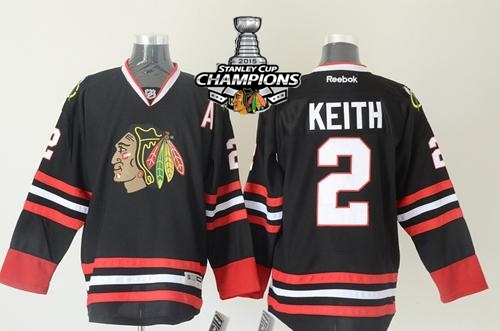 Blackhawks 2 Keith Black 2015 Stanley Cup Champions Jersey